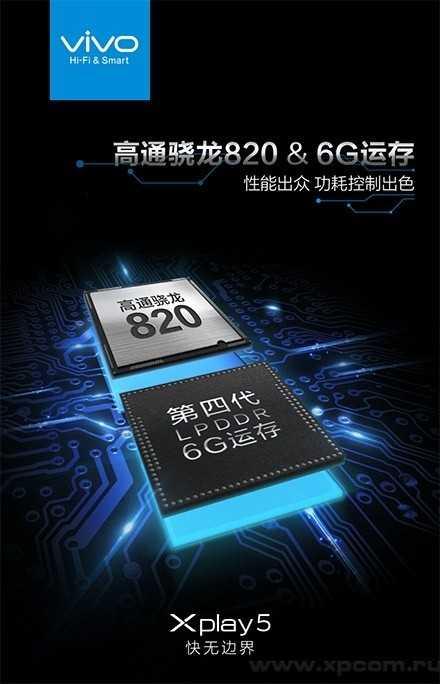 У Vivo Xplay 5 будет 6 ГБ ОЗУ