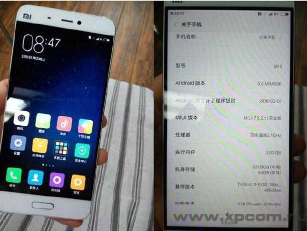 Xiaomi Mi5 - Новые утечки (фото)