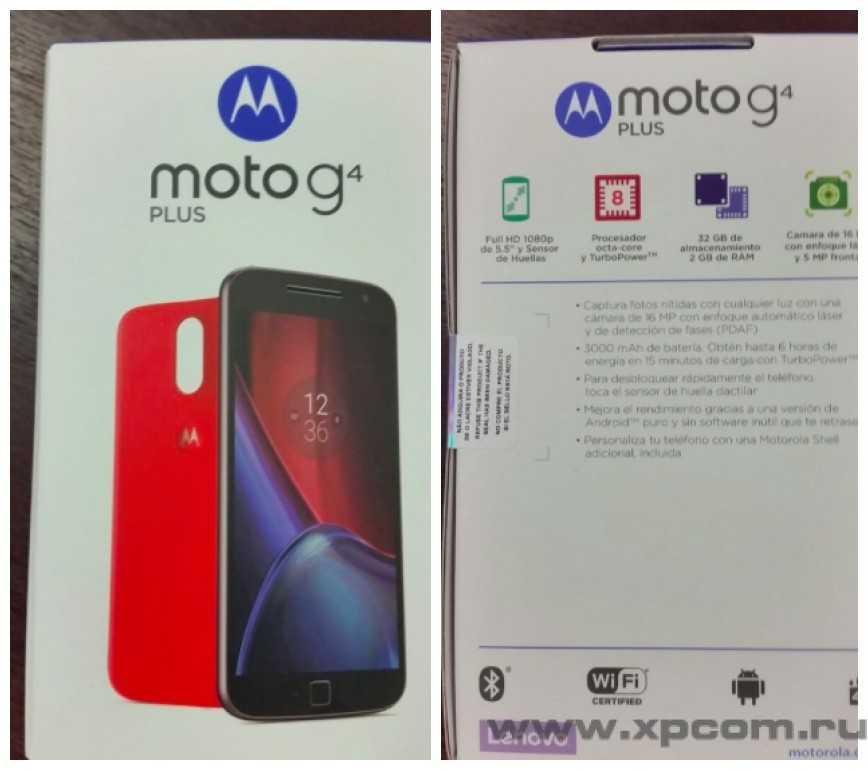 Фотографии новых смартфонов Moto G4 и Moto G4 Plus