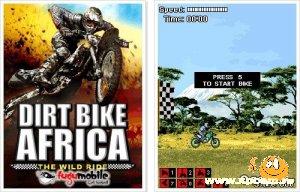 Java игра Грязный Мотокросс: Африка
