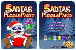 Java  игра Santas Puzzle Party - Паззл Вечеринка Санты