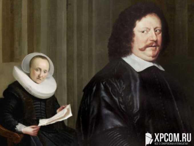 Жена изучает историю браузера - неизвестный художник, c. 1586