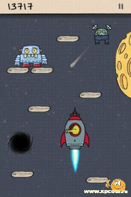 Игра для iPhone Doodle Jump – Будьте осторожны: возможно привыкание!