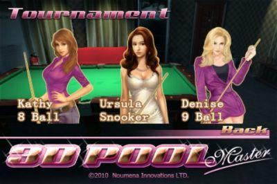 Игра для iPhone 3D Pool Master Pro