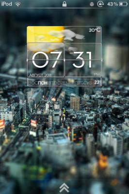 Glass тема для iPhone