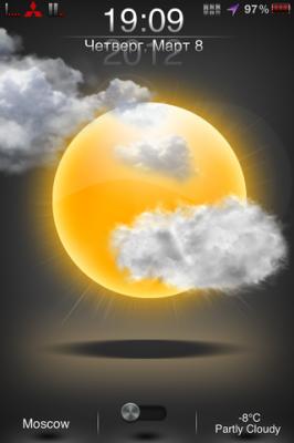 Тема Live Weather для iPhone