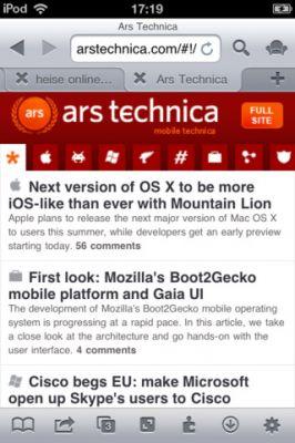 iCab Mobile - браузер для iPhone