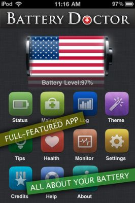 Battery Doctor Pro - Max Your Battery Life   для iPhone и iPod