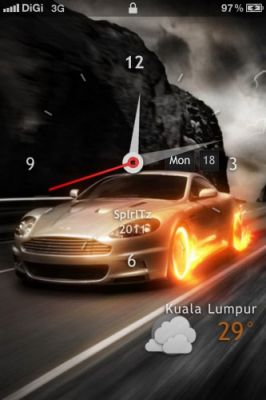 Cars - Lockscreen тема на телефон iPhone