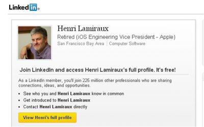 Из Apple ушел Henri Lamiraux