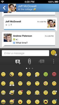 Мессенджер BlackBerry стал доступен для iOS