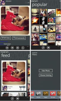 Instagram  на Windows Phone без видеороликов и тегов