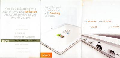 Adam II планшет с двумя экранами