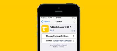 Твик FolderEnhancer - настройка папок на iOS 7