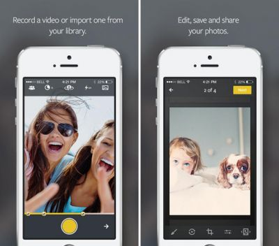 Vhoto дает возможность сохранять фотографии из видеороликов