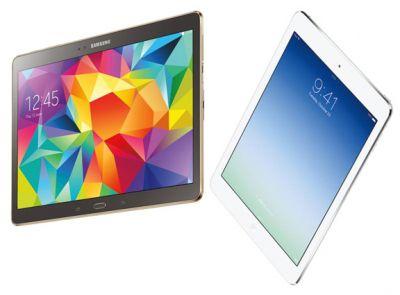 Дисплей Samsung Galaxy Tab S лучше по качеству Retina-экрана iPad Air