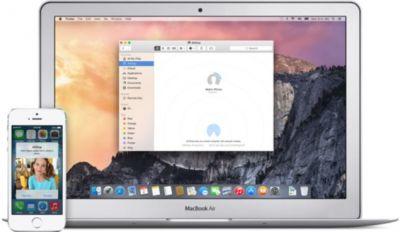 Стартовал тест AirDrop для OS X Yosemite