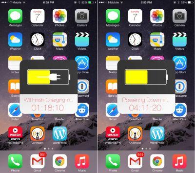 Твик Predix - следить за зарядом аккумулятора на iPhone