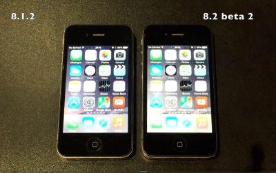 iPhone 4s с прошивкой iOS 8.2 beta  быстрее, чем с iOS 8.1.2