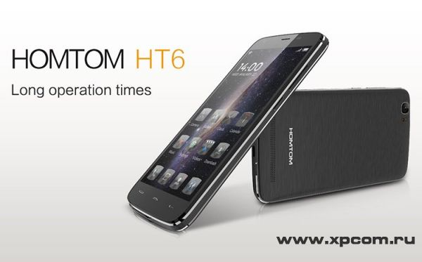 Doogee Homtom НТ6 - смартфон с большим аккумулятором (6250mAh)
