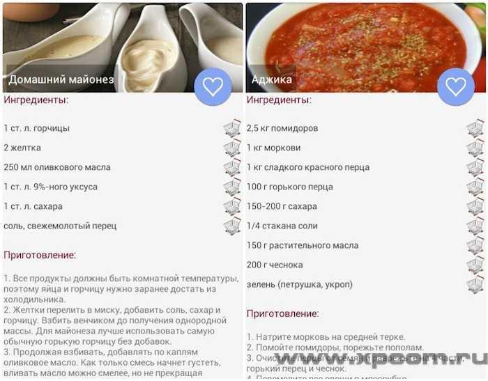 Рецепты соусов 2