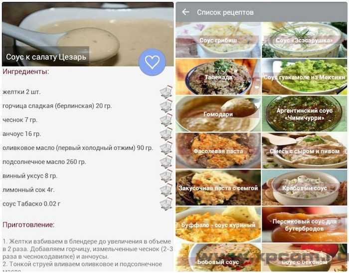 Рецепты соусов 3