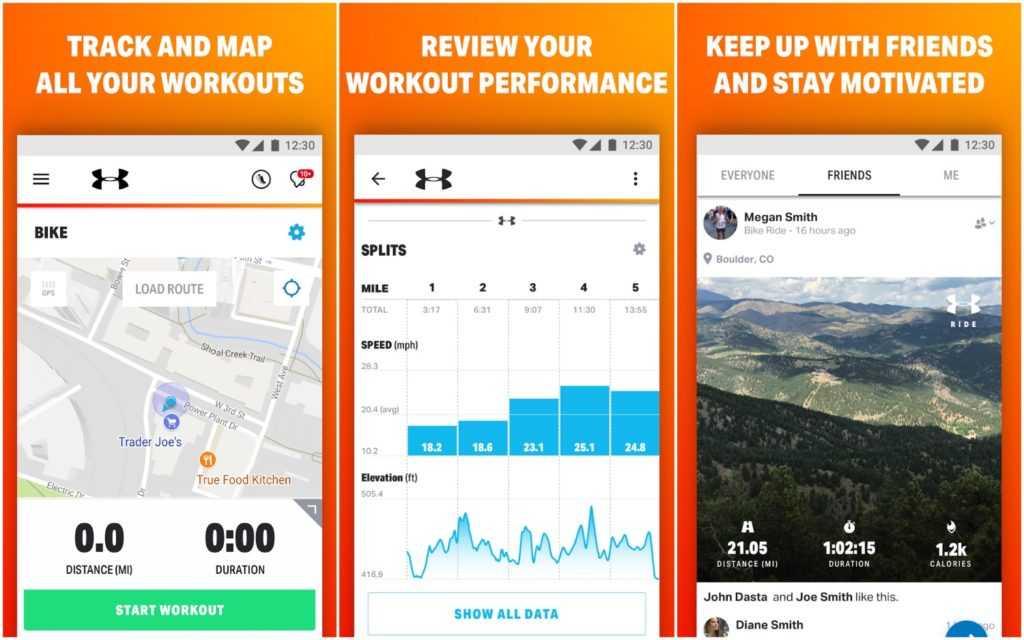 MapMyRide: велоезда с GPS