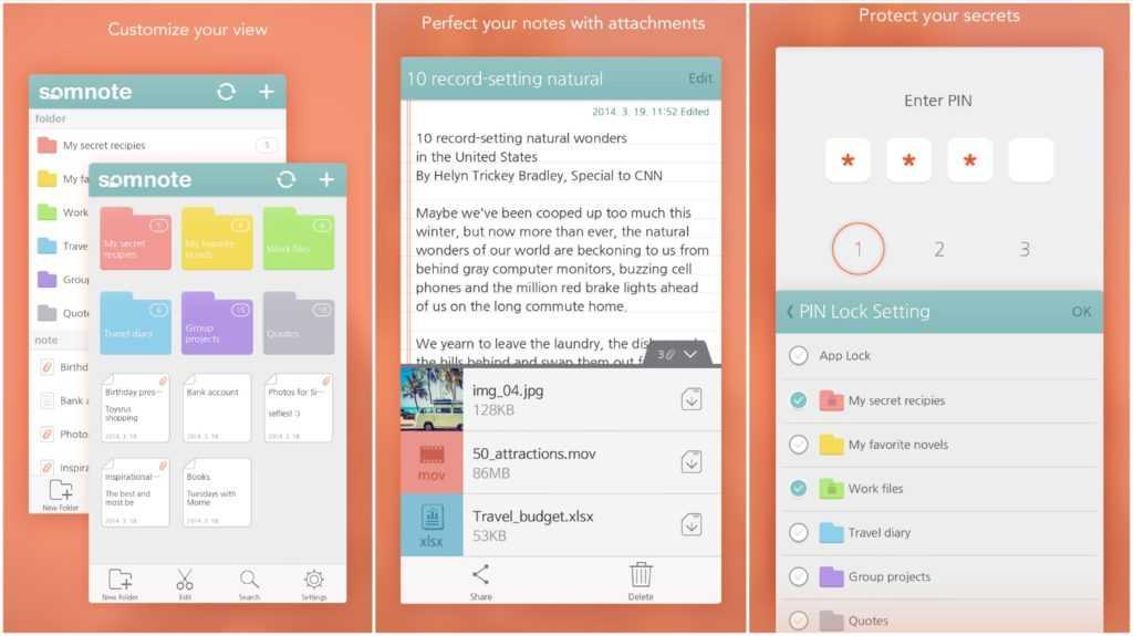 SomNote - Beautiful note app